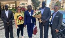 نائب وزير خارجية جنوب السودان تفقد أضرار مرفأ بيروت