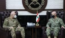 قائد الجيش بحث مع قائد القوات الخاصة بالقيادة الوسطى الأميركية بمجالات التعاون