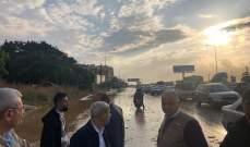 خير أشرف على عمليات سحب مياه الأمطار من موقع تجمعها في الدامور والناعمة