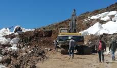 النشرة: تجدد الانهيارات بشكل كبير على طريق ترشيش زحلة