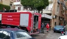 النشرة: عناصر الدفاع المدني تعمل على اخماد حريق اندلع بمنزل في صيدا القديمة
