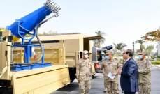 السيسي يتفقد أجهزة مطورة في الجيش المصري لمكافحة فيروس كورونا