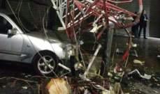 انزلاقات وحوادث سير على طرق الضنية والاضرار اقتصرت على الماديات