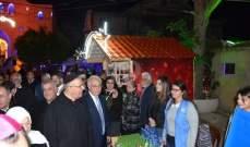 بلدية البرامية افتتحت القرية الميلادية برعاية السفير البابوي في لبنان