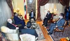 دياب عرض مع الامين العام المساعد للجامعة العربية الاوضاع وتشكيل الحكومة