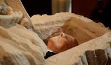 وصول موكب جثمان سعيد عقل الى كاتدرائية مار جاورجيوس بوسط بيروت