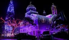 إضاءة شجرة الميلاد في مغدوشة