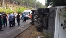 مقتل 11 شخصا وجرح 29 في انقلاب حافلة ركاب في كازاخستان
