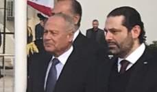 وصول الحريري الى مطار بيروت لاستقبال الوفد الفلسطيني برئاسة رئيس الوزراء الفلسطيني