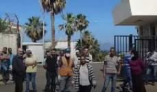 """عمال """"ترايكوم"""" نفذوا اعتصاما احتجاجيا على حسم الشركة أيام التعبئة العامة"""