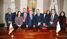 """باسيل وسويد وقّعا مذكرة تعاون بين """"إيدال"""" والبعثات اللبنانية في الخارج"""