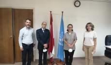 خير عرض مع مديرة اليونسكو ترميم المدارس المتضررة من انفجار المرفأ