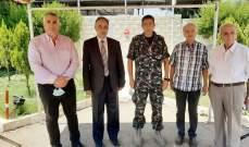 رئيس المجلس العام الماروني يزور مركز فوج الإطفاء في الكرنتينا
