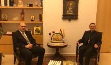 السفير البابوي عرض لاوضاع القطاع الزراعي مع المدير العام للزراعة