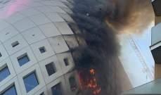 السيطرة على حريق شب صباحا في مبنى تجاري قيد الانشاء وسط بيروت ولا اصابات