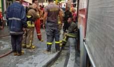 الدفاع المدني: إخماد حريق بمتجر في الملا- بيروت ونقل مصاب إلى المستشفى