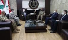 قائد الجيش التقى السفير التشيكي