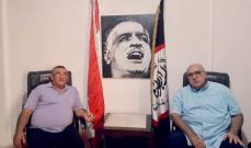 مصطفى حمدان استقبل رئيس لجنة الأسير يحيى سكاف