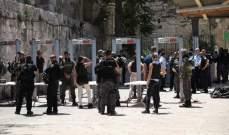 احتجاجات بالمسجد الأقصى رفضا لاتفاق السلام بين الإمارات وإسرائيل
