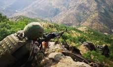 """الدفاع التركية: القضاء على 15 """"إرهابيا"""" من """"بي كا كا"""" شمالي العراق"""