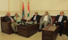 سعد يتباحث مع وفد المؤتمر الشعبي لفلسطينيي الخارج بأوضاع اللاجئين الفلسطينيين في لبنان