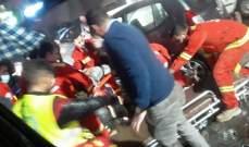 النشرة: جريحان في حادث سير على اوتوستراد الشماع في صيدا