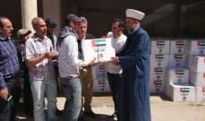 توزيع 1000 حصة غذائية و1500 وجبة إفطار رمضانية لأسر فقيرة ببعلبك تقدمة سفارة الإمارات