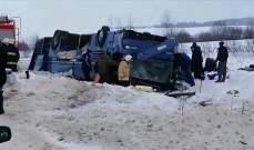 مقتل 6 أشخاص جراء انقلاب حافلة ركاب وسط روسيا