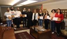 الأب بوعبود باختتام دورة في كتابة الأيقونات البيزنطية: نسعى لصقل المهارات الشابة