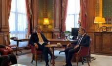 باسيل يلتقي وزير خارجية بريطانيا في مبنى وزارة الخارجية في لندن