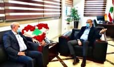 أبي رميا زار وزير الصحة واطلع منه على انتشار فيروس كورونا