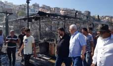 قمرالدين تفقد حريق السوق وطالب بكشف ملابساته