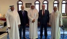 شهيب وابو الحسن بحثا في الكويت بمشاريع انمائية مع مدير عام الصندوق الكويتي للتنمية