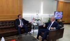 فنيانوس التقى محمد شقير وتداول معه بالاوضاع الاقتصادية