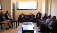 """أسامة سعد بحث مع وفد من """"أنصار الله"""" بأوضاع المخيمات الفلسطينية بلبنان"""