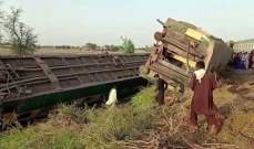 ارتفاع حصيلة حادث القطار في باكستان الى 63 قتيلا
