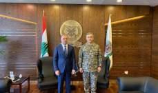بو صعب استقبل وزير دفاع كازاخستان وشكره على مشاركة بلاده في قوة اليونيفيل