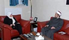 عقل زار بهية الحريري: ناقشنا سبل معالجة مشاكل مخيم عين الحلوة