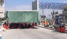 النشرة: اعتصام لعمال معمل معالجة النفايات الصلبة الحديث في صيدا
