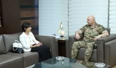 قائد الجيش التقى مندوبة لبنان بالأمم المتحدة ورئيس فرع الوقاية من الإرهاب في UNODC