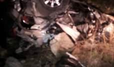 نقل 4 جرحى الى مسشتفى البقاع اثر حادث سير وقع عند نقطة المصنع