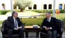 سليم جريصاتي عرض مع سفير اليابان آخر التطورات المتعلقة بقضية غصن