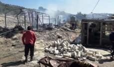 الدفاع المدني: إخماد حريق أتى على خيمتين للنازحين السوريين في القاسمية