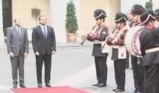 وصول الحريري الى قصر شيجي في روما للقاء نظيره الايطالي