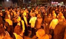 محتجون يتجمعون عند ساحة تقاطع ايليا في صيدا للمطالبة بتحقيق المطالب