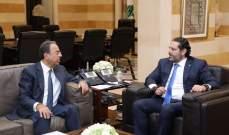 الحريري التقى بطيش وبحث معه الأوضاع الاقتصادية العامة