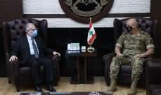 قائد الجيش استقبل وزير الدفاع وتباحث بشؤون المؤسسة العسكرية