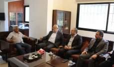 أسامة سعد عرض مع وفد حزب الله الاوضاع المعيشية ومع الجهاد الاسلامي مواجهة صفقة القرن