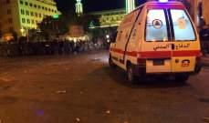 الدفاع المدني: معالجة وتضميد إصابات 54 مواطنا بوسط بيروت ونقل 36 جريحا إلى المستشفيات