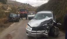 قتيل نتيجة تصادم بين مركبتين على طريق عام بلدة العزونية قضاء عاليه